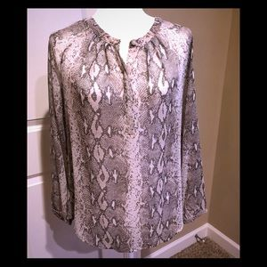 Banana Republic Snakeskin Print Blouse Small